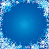 Winter blue square background Stock Photography