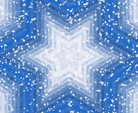 Winter blue star background Royalty Free Stock Photo
