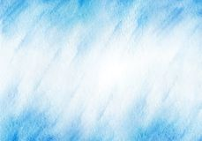 Winter blue watercolor background. Vector template Stock Photos