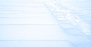 Winter blue white snow texture. Winter blue white snow lines texture Stock Photography