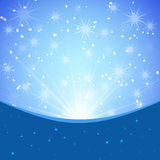 Winter blue xmas  background Stock Images