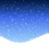 Winter blue xmas  background Royalty Free Stock Photography