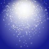 Winter blue xmas  background Stock Photo