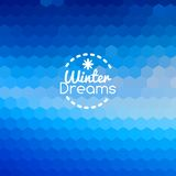 Winter blueprint blue abstract background Royalty Free Stock Image