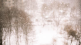 Winter blur background with snowflakes Royalty Free Stock Photo