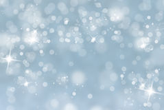 Winter blurred background with sparkle Stock Photo