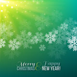 Winter Blurred Bokeh Background with Snowflakes. Royalty Free Stock Images