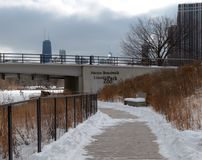Winter Boardwalk Stock Images