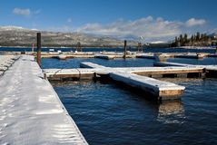Winter Boat Docks Stock Photos