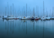 Winter In A Boat Marina Stock Photography