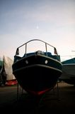 Winter Boat Storage Stock Images