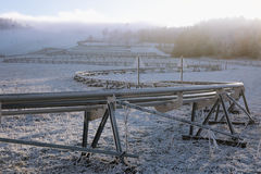 Winter bobsled track on Czech Central mountain, Czech Republic Royalty Free Stock Images