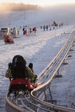 Winter bobsled track in winter Stock Photos