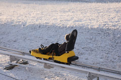 Winter bobsled track in winter Royalty Free Stock Photos