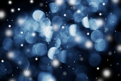Winter bokeh Stock Photography