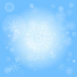 Winter bokeh abstract light background Royalty Free Stock Photo