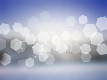 Winter bokeh background. Abstract cold blur bokeh winter background royalty free illustration