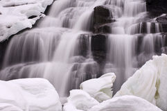 Winter Bond Falls Stock Photography