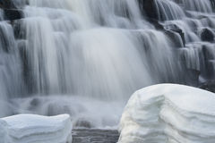 Winter, Bond Falls Royalty Free Stock Photo