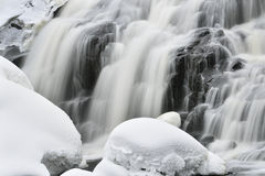 Winter, Bond Falls Royalty Free Stock Image