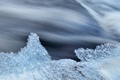 Winter, Bond Falls Rapids Stock Photos