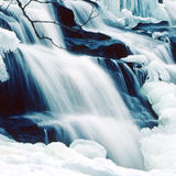 Winter bond falls square Stock Images