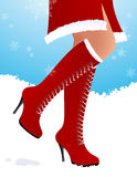 Winter boots. Illustration, AI file included Stock Photo