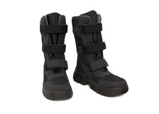 Winter boots. Isolated on the white background Stock Photography