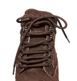 Winter boots. Brown  on a white background Stock Photos