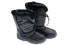 Winter boots close up Royalty Free Stock Photo