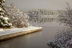 Winter-Boots-Dock lizenzfreie stockbilder