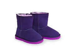 Winter boots isolated on white background Royalty Free Stock Photos