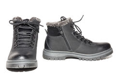 Winter boots on a white background Stock Photo