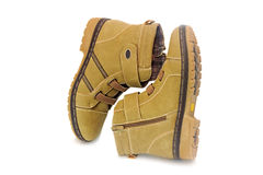 Winter boots for women on white background. Stock Images