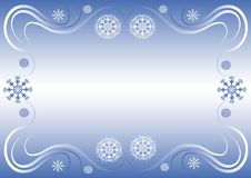 Winter border Stock Images