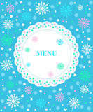 Winter border menu Stock Photo