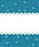 Winter border menu. Royalty Free Stock Image