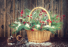 Winter bouquet for Christmas Royalty Free Stock Image