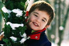Winter Boy stock images