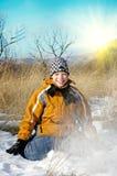 Winter boy Stock Image