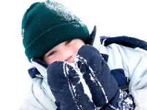 Winter boy fun Stock Image