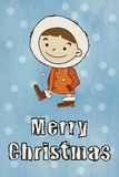 Winter boy Merry Christmas Stock Photo