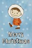 Winter boy Merry Christmas Stock Photo