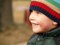 Winter boy smiling Stock Images