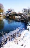 Winter-Brücke Stockbilder