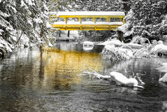 Winter-Brücke Stockbild