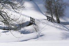 Winter-Brücke Lizenzfreie Stockfotos