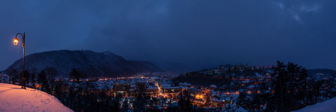 Winter in Brasov stock photography