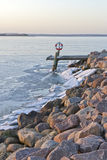 Winter at the Breakwater Royalty Free Stock Photos