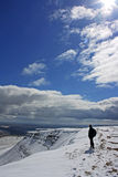 Winter on the Brecon Beacons Stock Photo